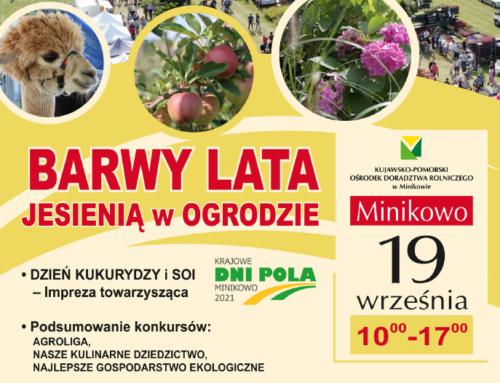 Zapraszamy 19.09.2021 r. do Minikowa na Święto Ziemniaka i Dzień kukurydzy i soi